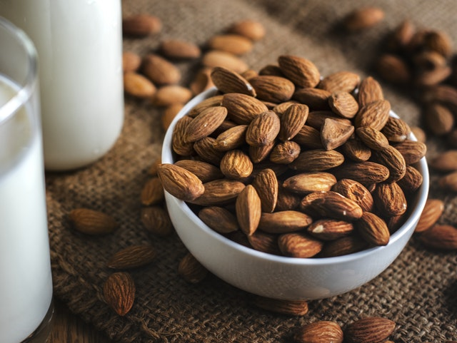 Almonds and nuts are great